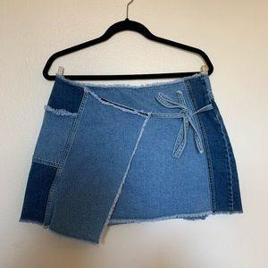 BDG Wrap Denim Skirt